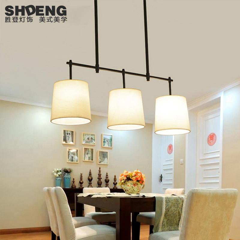 胜登 吧台餐厅餐桌创意个性简约铁艺吊灯三头 美式乡村吊灯