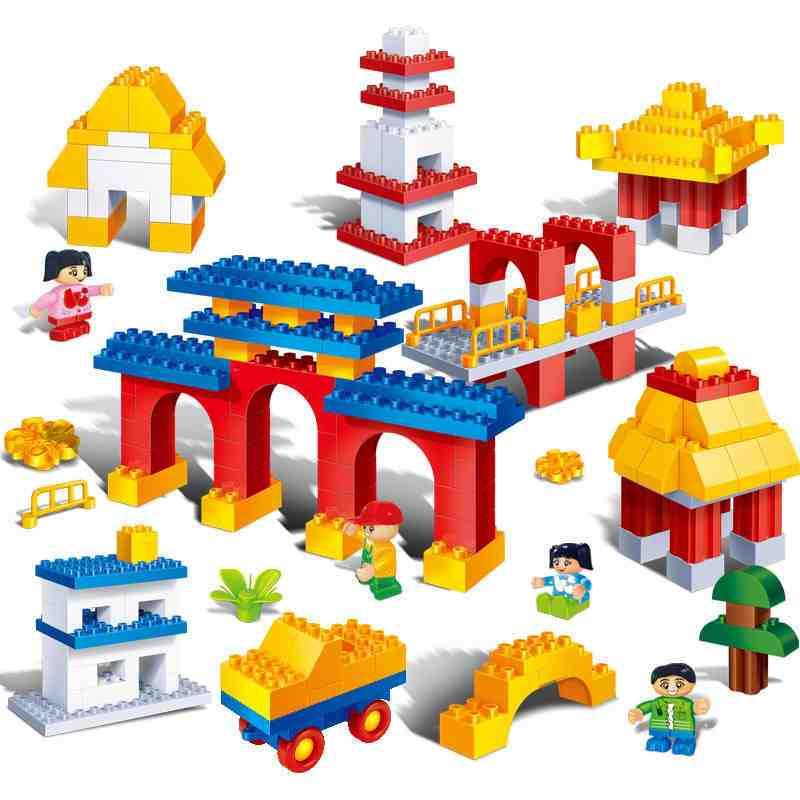 【大颗粒】邦宝早教创意 益智拼插积木房子 儿童玩具传统建筑6511