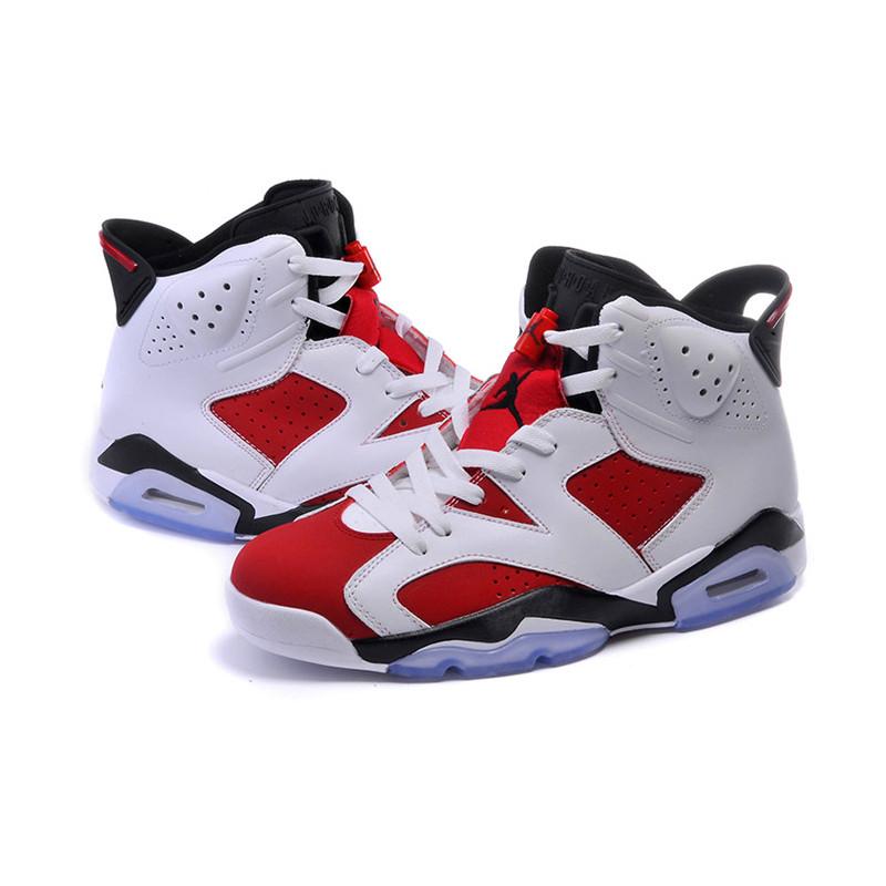耐克j6高帮白黑点乔丹6代男女篮球鞋 air jordan 乔丹