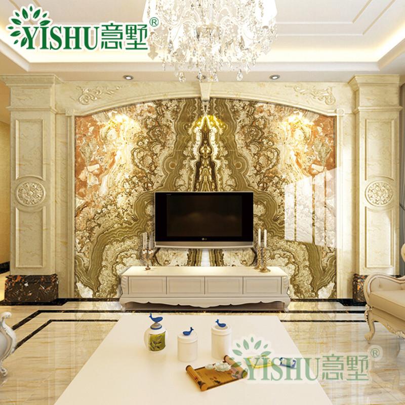 意墅 石材罗马柱大理石背景墙客厅人造岗石欧式酒店大堂门套线罗马柱