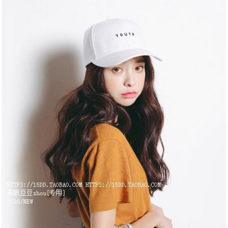2017款范智乔同款棒球帽韩国白色时尚个性复古鸭舌帽软妹休闲帽子女