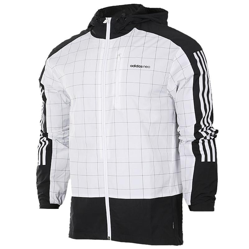 adidas/阿迪达斯 neo 男装运动服防风透气夹克外套cd1637 br8502