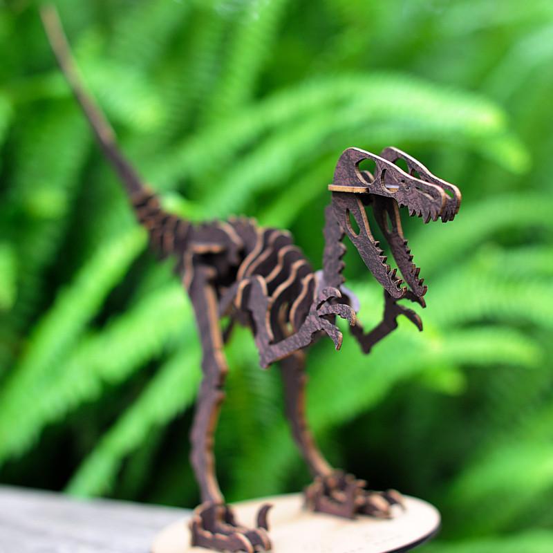 纸玩意 创意小手工艺品传统中国纸艺特色原创手作环保纸板拼图 恐龙
