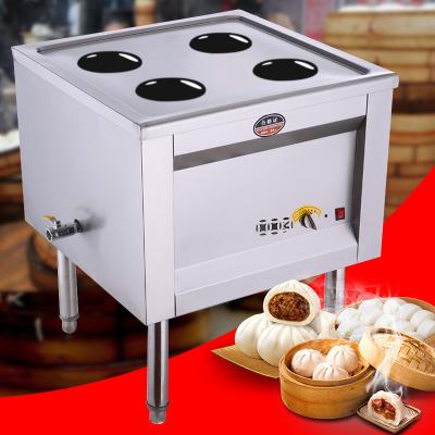 纳丽雅(Naliya) 蒸包炉商用蒸包子机馒头蒸汽电蒸炉 四孔风机款 热风循环 900瓦