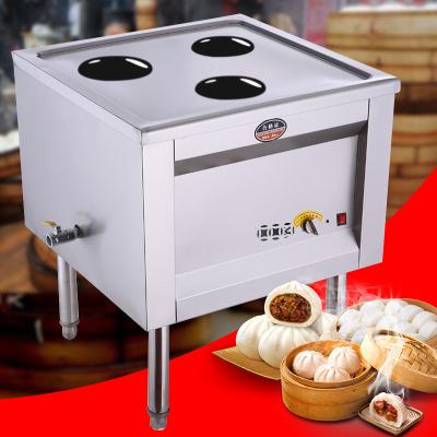 納麗雅 蒸包爐商用蒸包子機饅頭蒸汽電蒸爐 三孔風機款