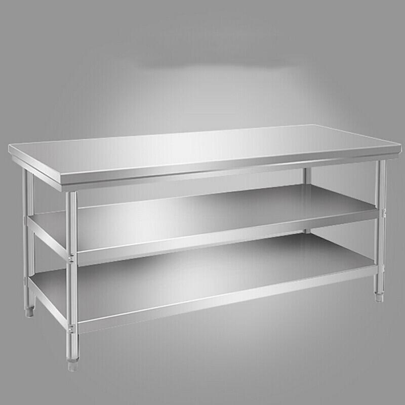 纳丽雅商用厨房工作台双层不锈钢桌子操作台柜台面图片