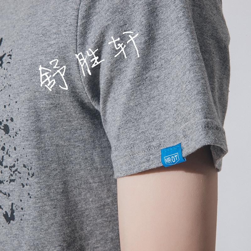 日系原创个性印花云朵圆领半袖体恤夏季男士短袖t恤潮