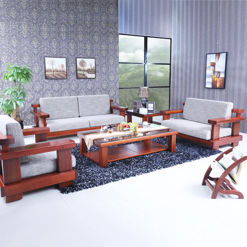 淮木(huaimu) 現代新中式海棠木家具 全實木沙發組合圖片