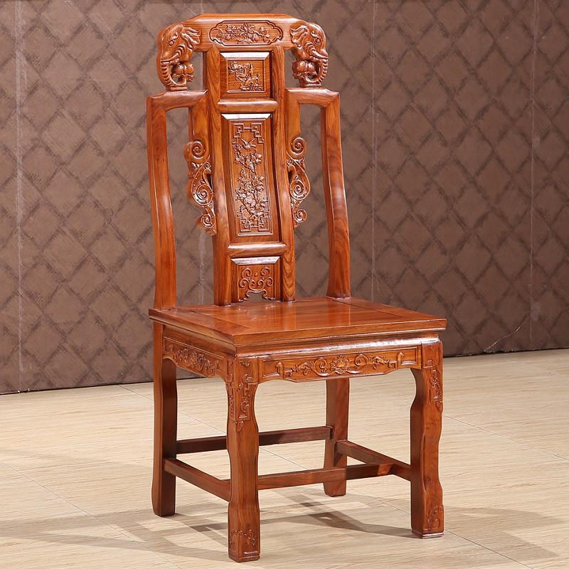 淮木 实木仿古雕花 圆形餐台餐桌椅组合中式家具餐桌