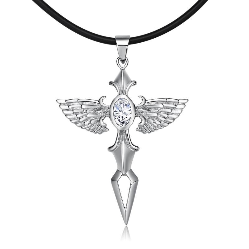 男款馆天使项链之剑925银饰品个性攻略十字架之剑彩丽植物吊坠男士联盟阡陌图片