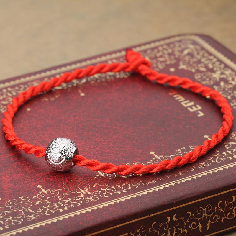 925银手链 幸运红绳 转运珠手链 韩版 时尚 生日礼物 红绳转运珠手链