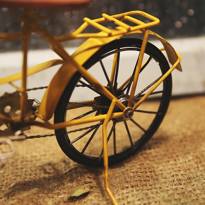 彩丽馆美式乡村复古单车自行车模型家居软装饰品手工艺品摄影道具小