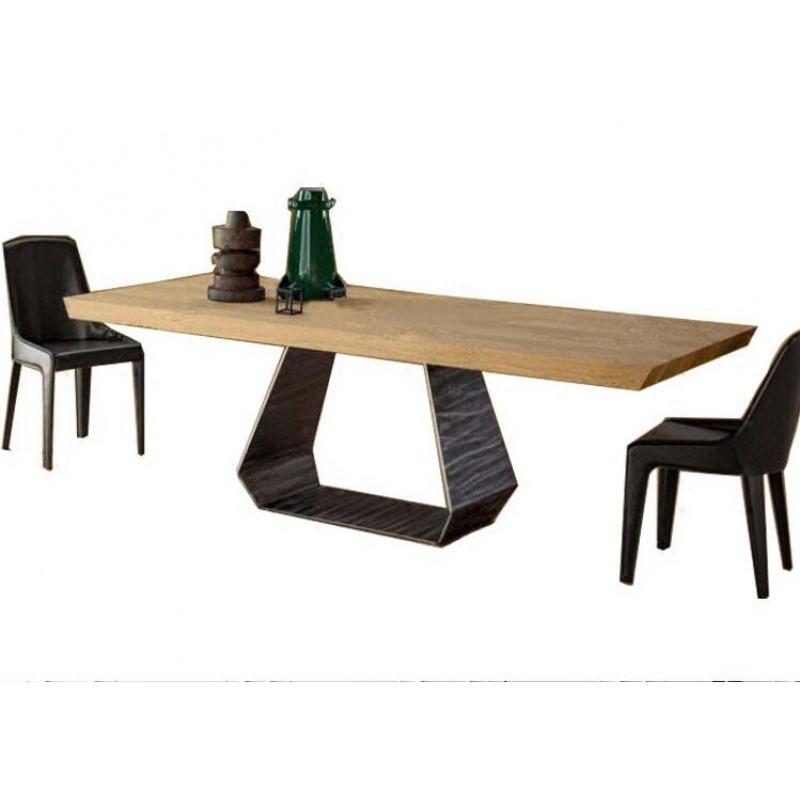千住明创意设计师实木家具铁艺办公桌餐桌loft美式简约书桌咖啡桌会议