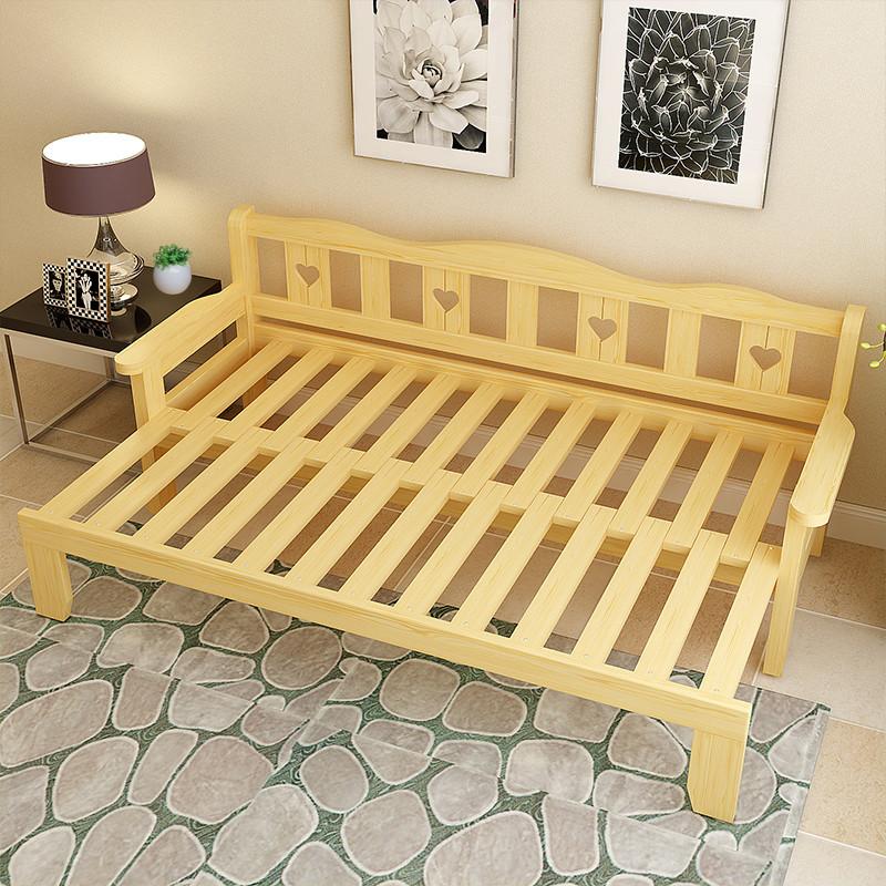 2米1.5米多功能客厅可推拉沙发床