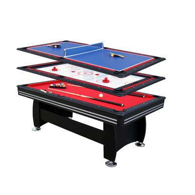 君健 多功能3合1台球桌球杆冰球台乒乓球台