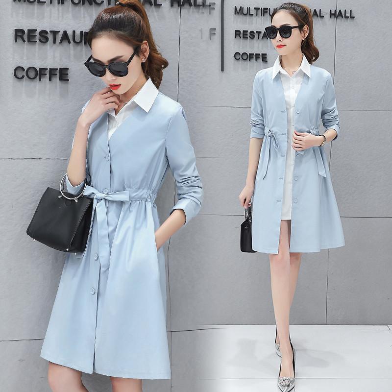 愫惠君(suhuijun)2017春夏季新款韩版女装衬衫两件套连衣裙衣服气质图片