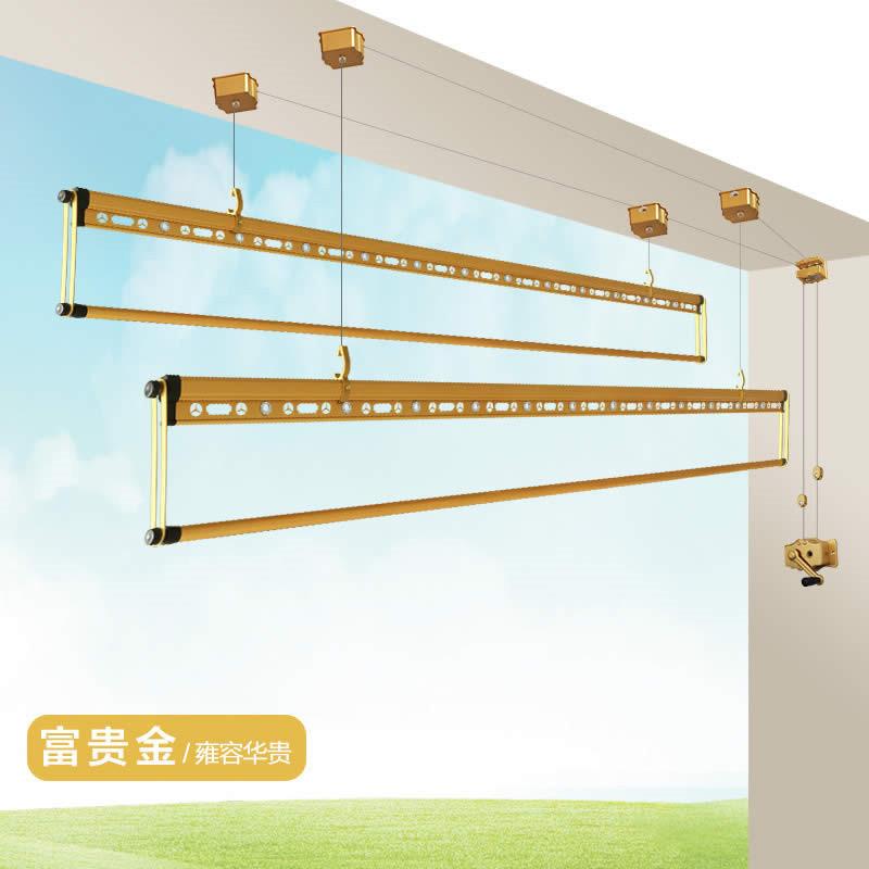 【送衣服撑|包安装】四杆升降手摇晾衣架 创新设计双杆式四杆自动室内图片