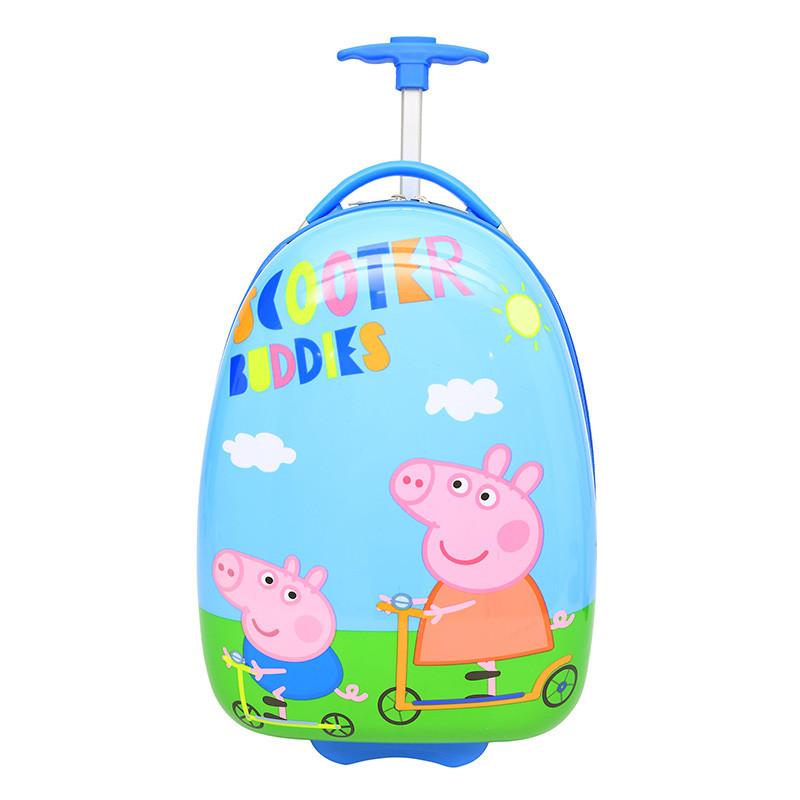 箱pc儿童小学生卡通行李箱飞机轮旅行箱男女小孩蛋壳书包防水登机箱