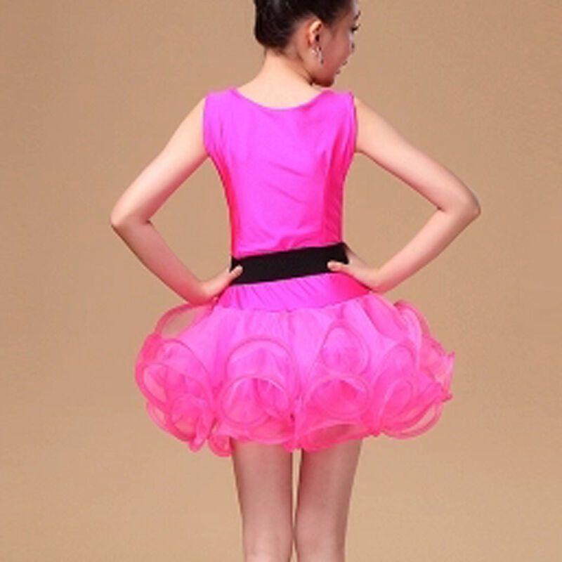 嘟嘟美倍尔 儿童拉丁舞裙服少儿拉丁舞裙比赛服装