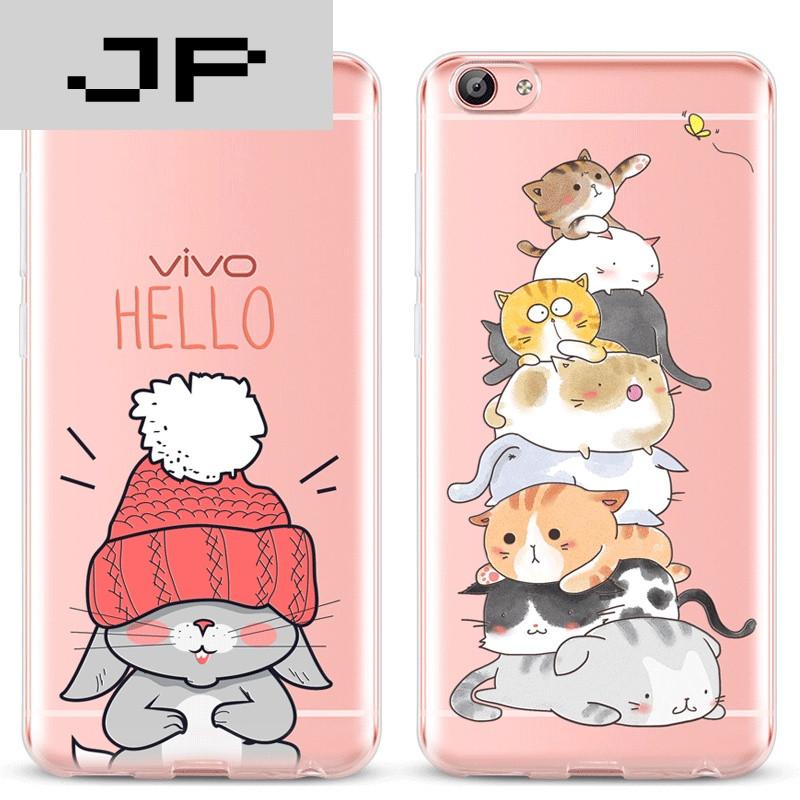 jp潮流品牌 vivox7手机壳女款步步高硅胶防摔简约可爱