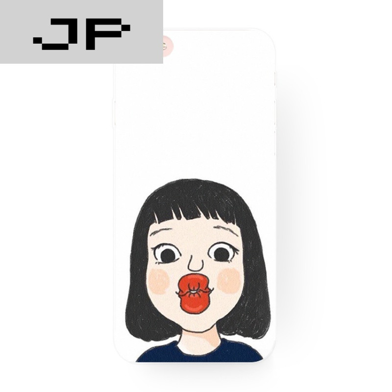 jp潮流品牌小清新原创可爱人物么么哒iphone76s苹果6s