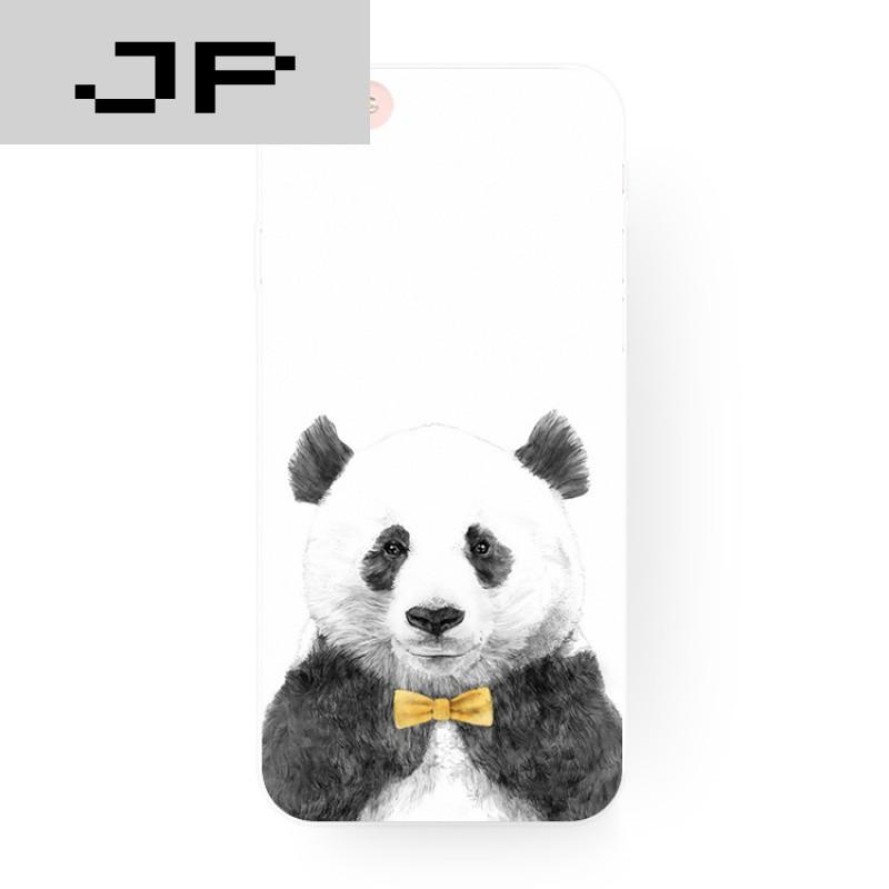 jp潮流品牌可爱卡通萌萌熊猫漫画苹果6s iphone7 6plus i6创意全包壳