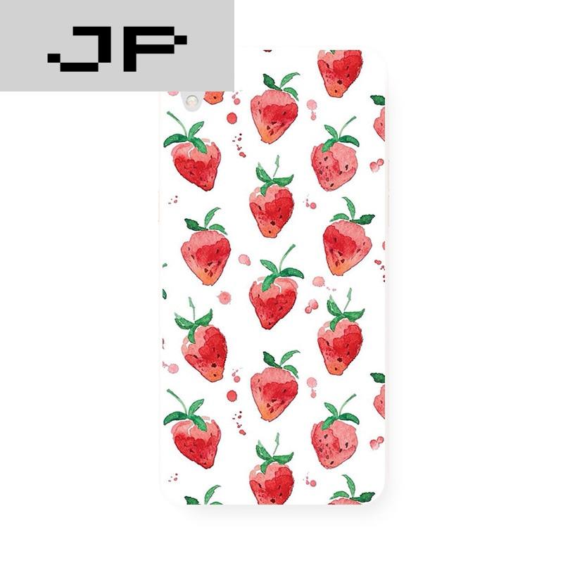 jp潮流品牌小清新手绘水果草莓 原创磨砂 oppo r9 r7s