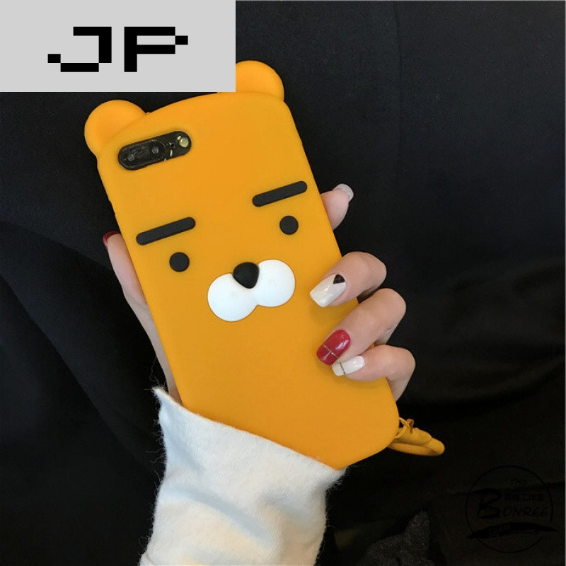 jp潮流品牌韩国可爱卡通小熊挂绳iphone7手机壳苹果6s
