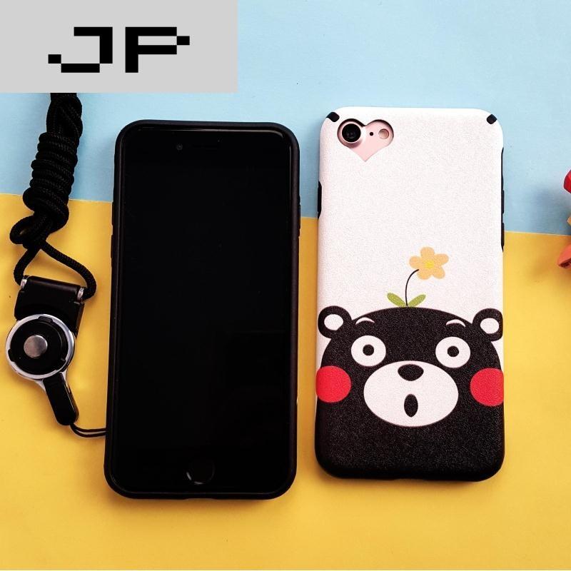 jp潮流品牌苹果i6/6plus/7/7plus可爱呆萌部长保护套防摔软边框蚕丝