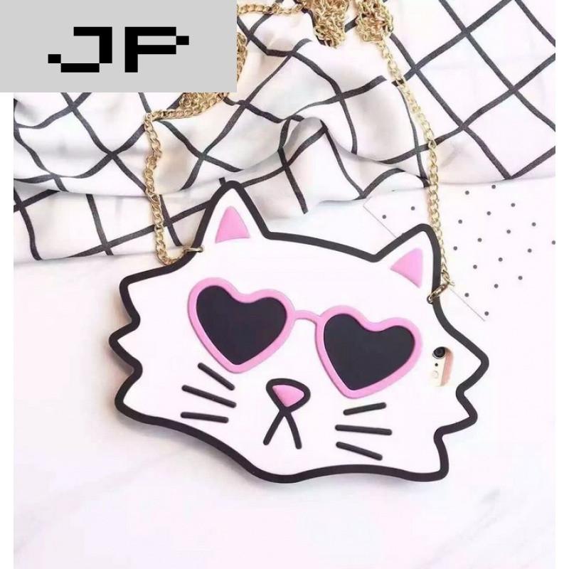 jp潮流品牌韩国可爱大眼睛iphone6s手机壳苹果6plus硅胶时尚女款白猫