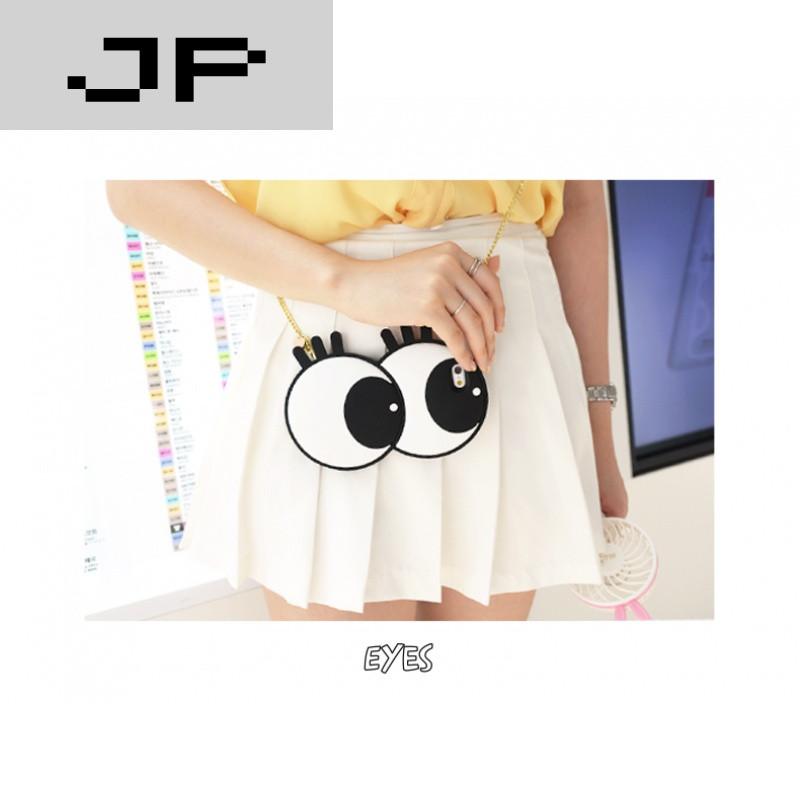 jp潮流品牌韩国可爱大眼睛oppor9plus手机壳r9硅胶时尚女款潮挂绳白猫