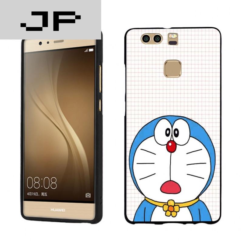 jp潮流品牌 可爱小叮当华为p9可爱卡通手机壳 p9plus萌动漫彩绘硅胶套