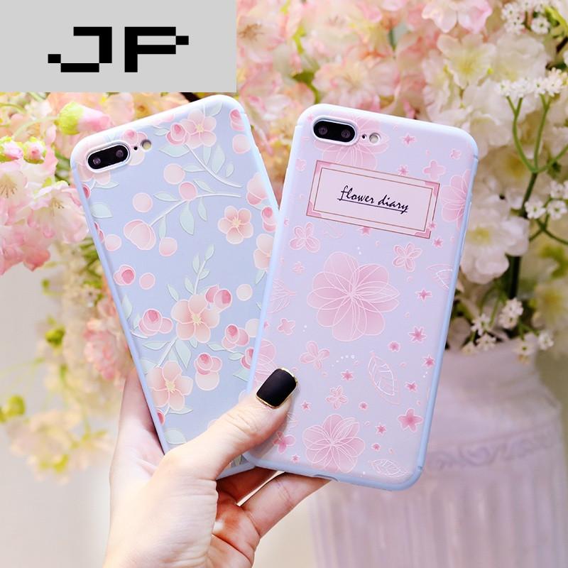 jp潮流品牌韩国小清新粉碎花苹果6s手机壳iphone6plus