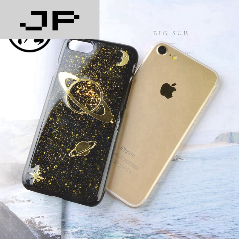 jp潮流品牌苹果7闪粉手机壳日韩潮牌星空iphone7plus个性土星滴胶硬壳