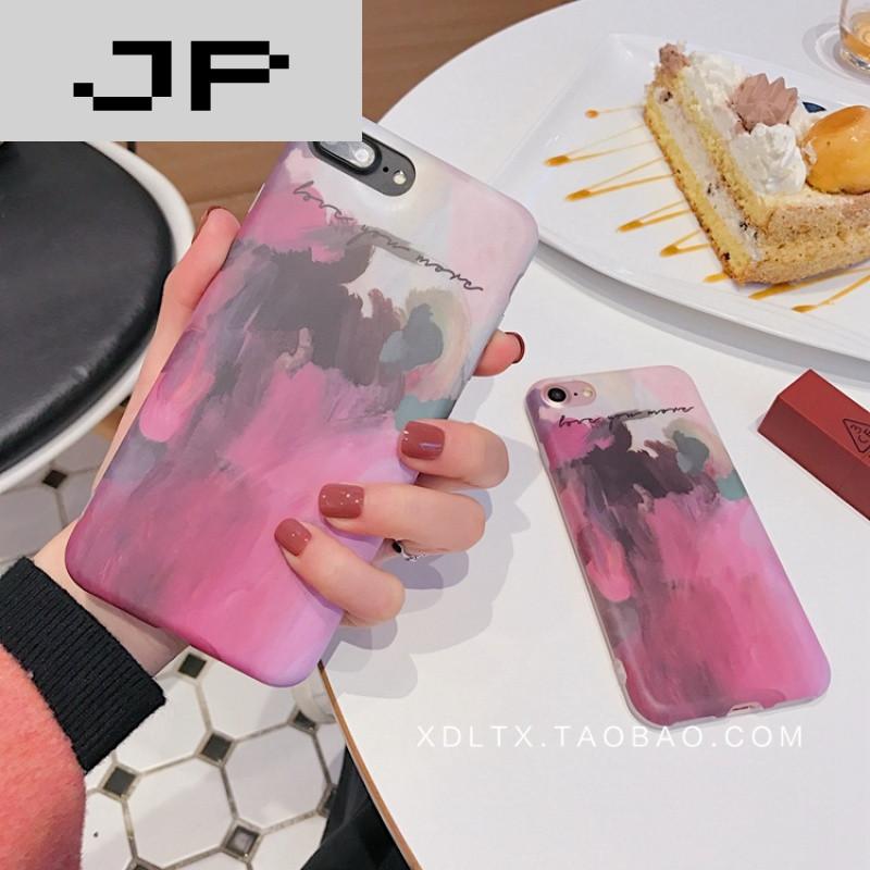 jp潮流品牌文艺水粉画 苹果6手机壳iphone7/6s/plus创意个性日韩国潮