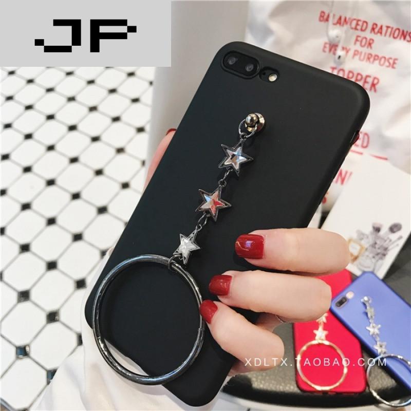 jp潮流品牌韩国文艺苹果7手机壳星星圆环吊坠iphone7