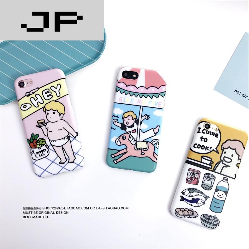 jp潮流品牌韩国可爱小男孩小婴儿iphone7/7plus手机壳