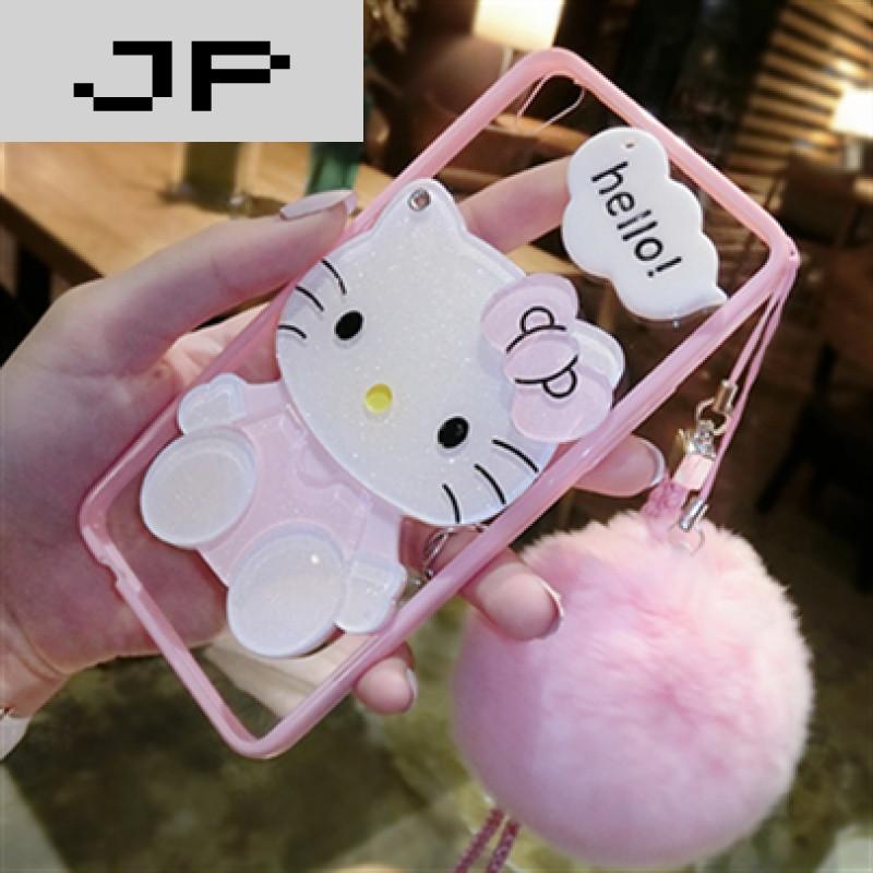 品牌oppoa59手机壳女款硅胶挂绳a53m手机套毛球挂脖卡通a59s韩国可爱