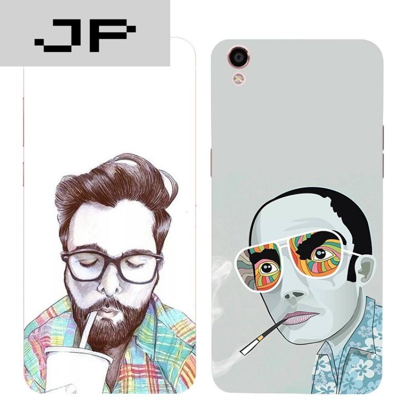 jp潮流品牌欧美风oppo r9s r7s tc r7plus手机壳个性简约硅胶全包软壳