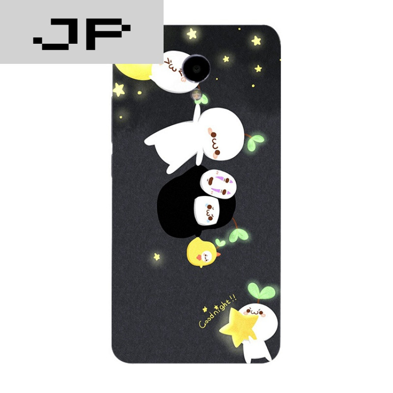 jp潮流品牌简约可爱卡通魅族魅蓝3s note5 3 2 metal手机壳硅胶全包软