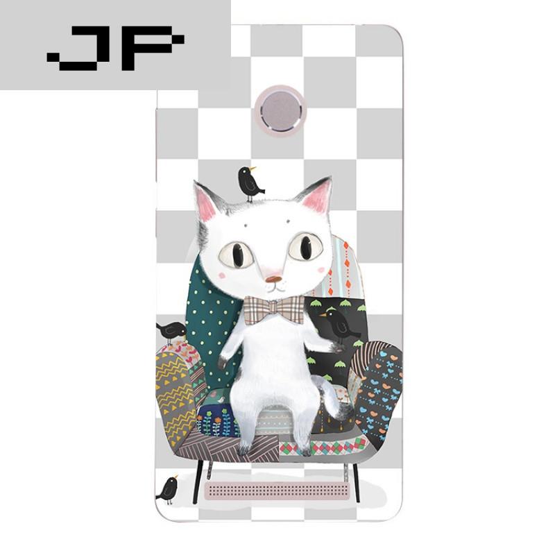 jp潮流品牌可爱卡通手绘猫咪红米3s note3 pro手机壳硅胶全包软壳防摔