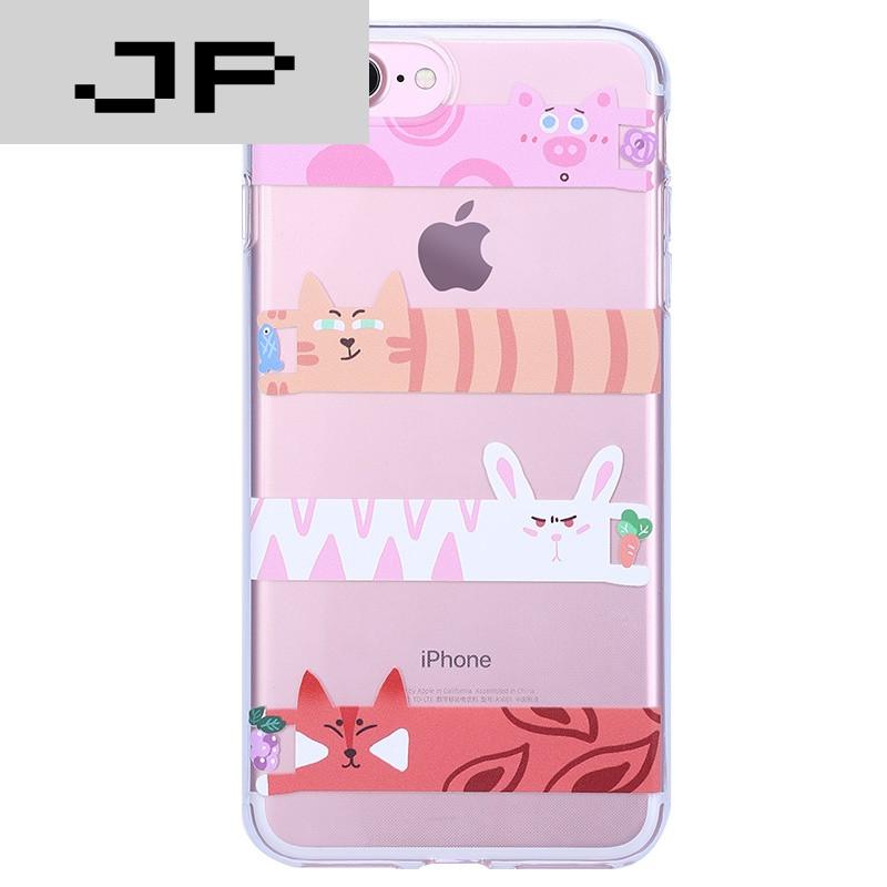 jp潮流品牌苹果7手机壳韩国可爱卡通硅胶透明iphone7plus全包保护软壳