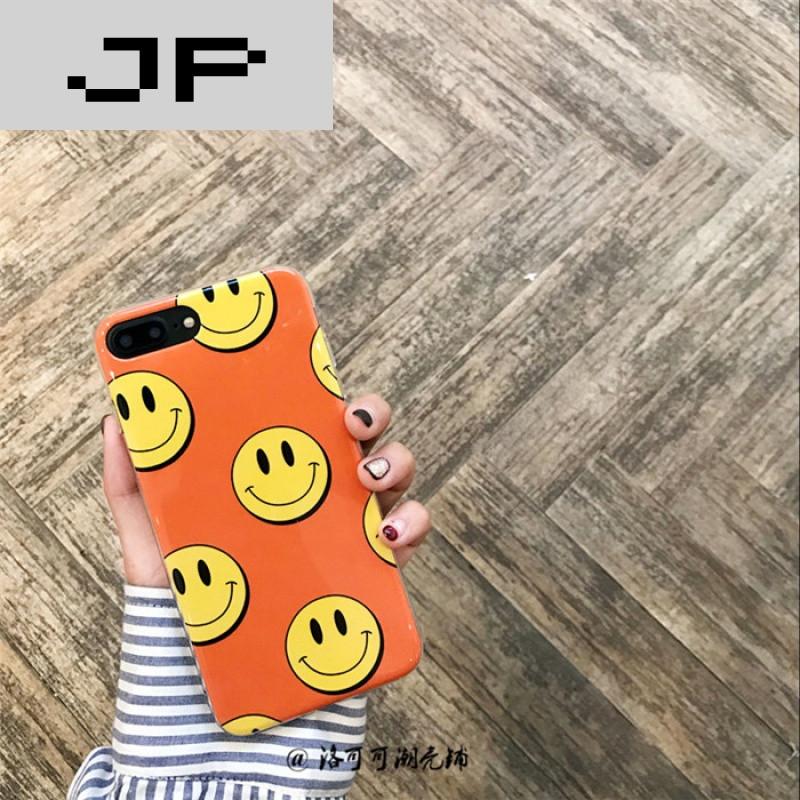 jp潮流品牌可爱卡通笑脸iphone6s手机壳苹果6s/7plus创意个性韩国防摔图片