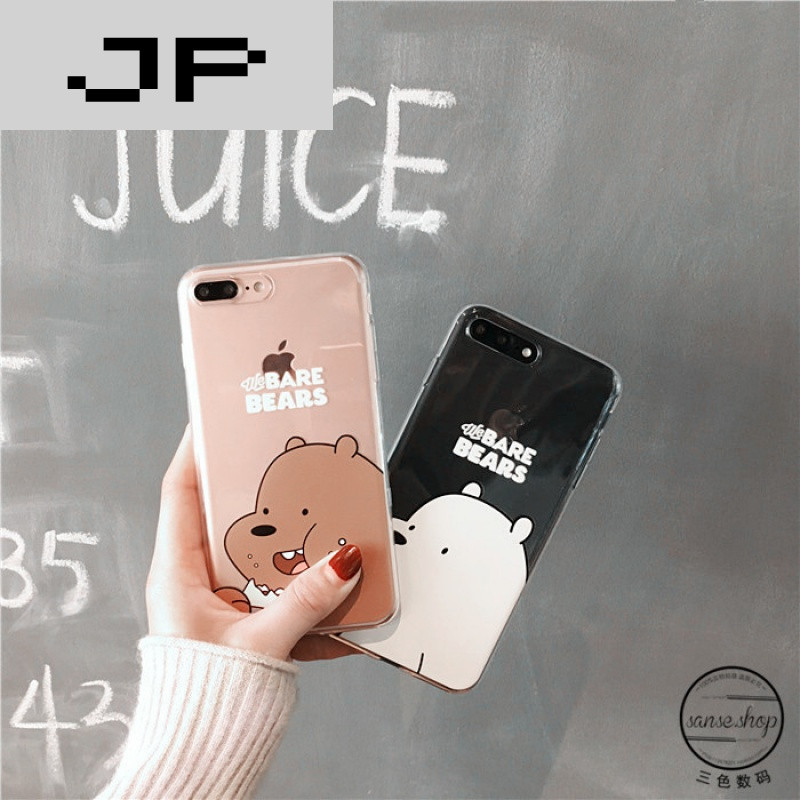 jp潮流品牌可爱吃货小熊 苹果6手机壳iphone7/6s/plus