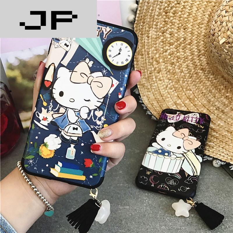 jp潮流品牌卡通iphone6s手机壳流苏吊坠苹果6plus外壳