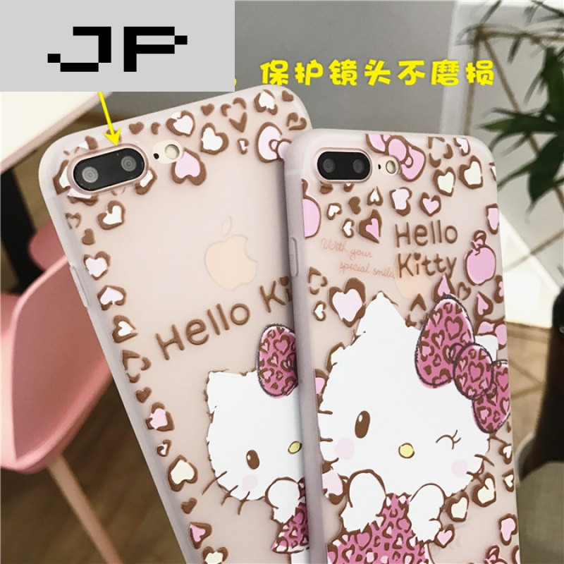 jp潮流品牌小清新卡通iphone6plus手机壳硅胶苹果7plus全包保护套浮雕
