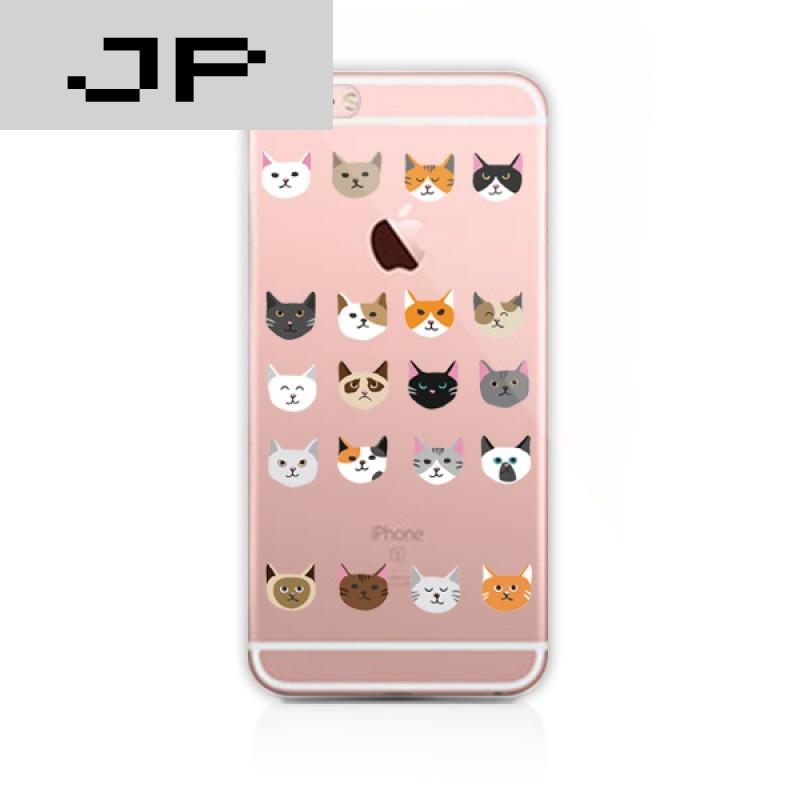 jp潮流品牌可爱卡通小猫咪iphone6s透明软壳苹果7plus图片