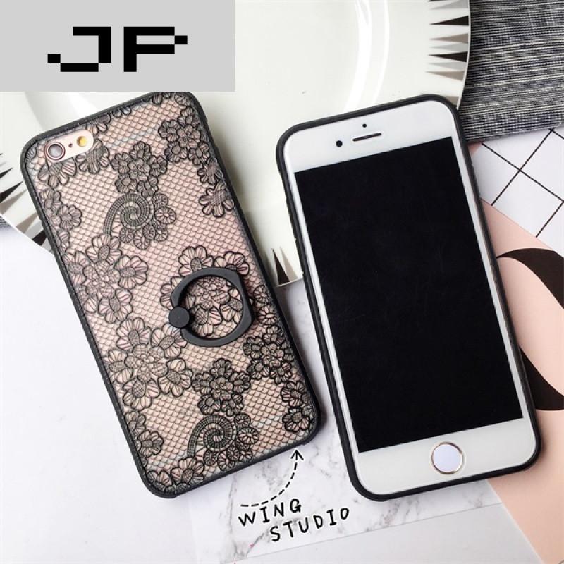 jp潮流品牌欧美蕾丝iphone6s手机壳浮雕苹果6plus保护