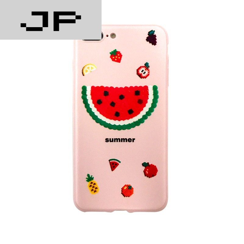 jp潮流品牌小清新水果苹果六7plus手机壳5.5iphone6s保护套4.
