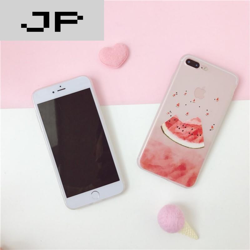jp潮流品牌小清新西瓜苹果7plus手机壳硅胶6plus磨砂iphone6s保护套
